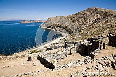 Inca ruins, Lake Titicaca, Bolivia