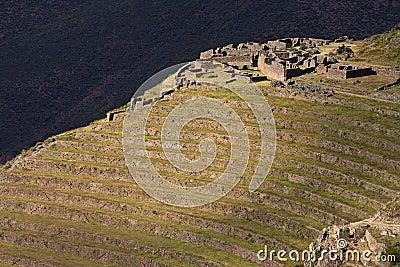 Inca ruins and terraces at Qantus Raqay - Peru