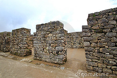 Inca s temple  of Machu Picchu