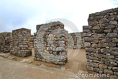 Inca s temple  of Machu Picchu