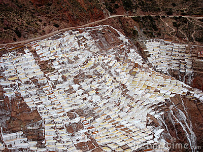 Inca Salt pans in Maras, Peru
