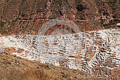 Inca Salt pans at Maras, Peru