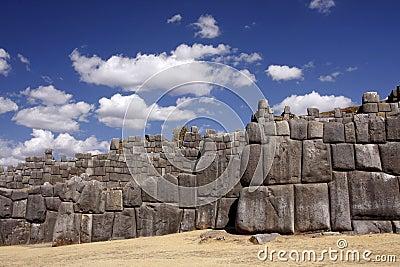 Inca stone wall in Cuzco, Peru