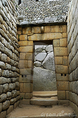 Inca Temple Doorway at Machu Picchu
