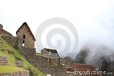 Inca terraces  of Machu Picchu