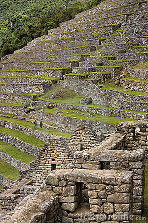 Inca Terraces - Machu Picchu - Peru Editorial Photography