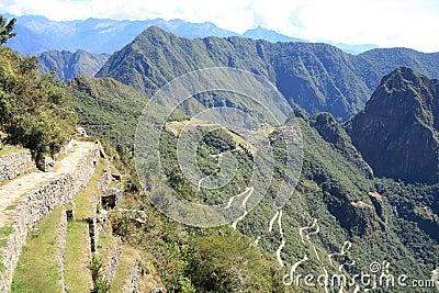 Inca trail to Machu Picchu ruins