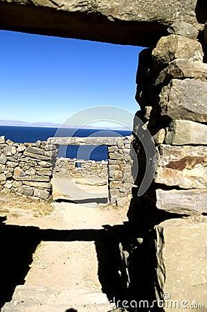 Incan doorway- Bolivia