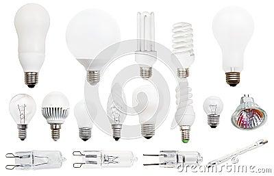 Incandescent, compact fluorescent, halogen lamps