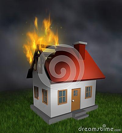 Incendie de chambre photo stock image 26813640 for Assurance incendie maison