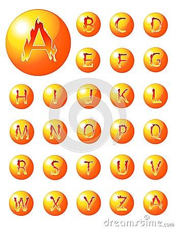 Collection d alphabet du feu
