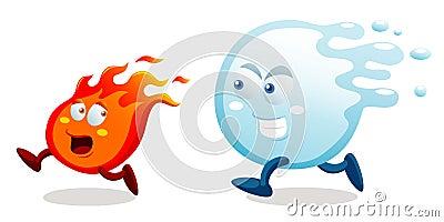 incendie-et-eau-de-dessin-anim%C3%A9-27650830
