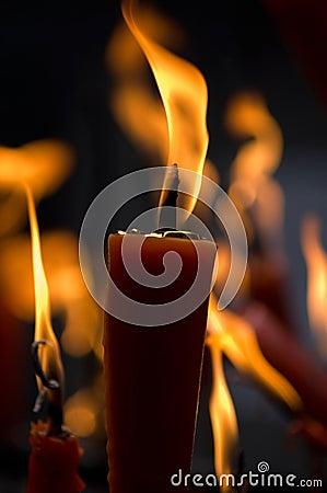 Incense being burned