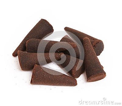 Incense cones isolated on white
