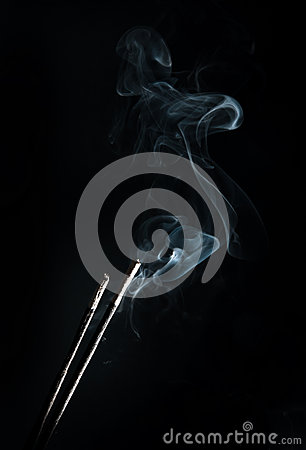 Incense with smoke