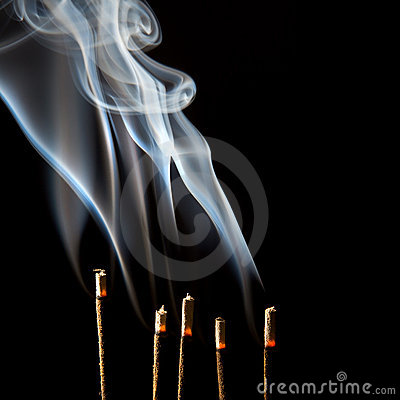 Incense smoke wisps