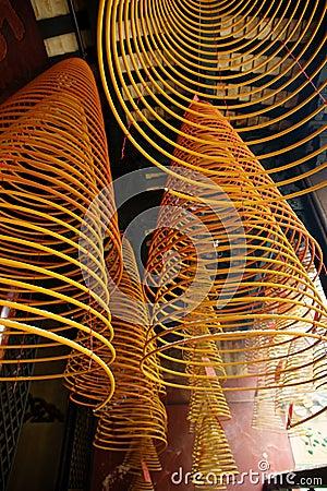 Incense spirals, Kun iam temple, macau.