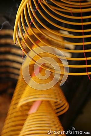 Incense, spirals, Kun iam temple, macau.