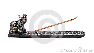 Incense stick isolated on white
