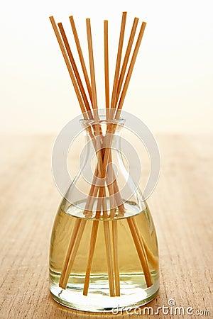 Incense sticks in carafe
