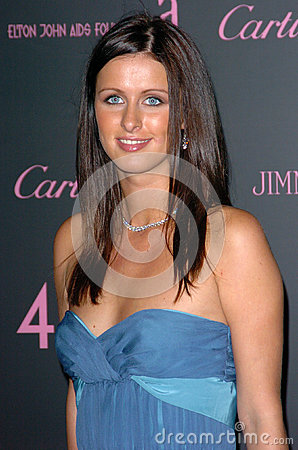 Inches,Elton John,Nicky Hilton Editorial Stock Image