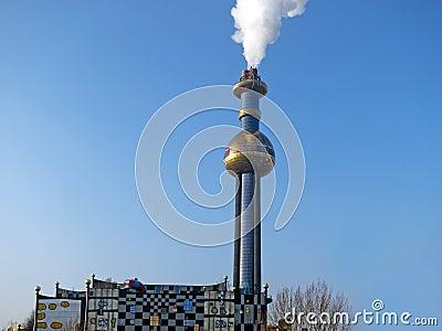 Incineration designed by Hundertwasser
