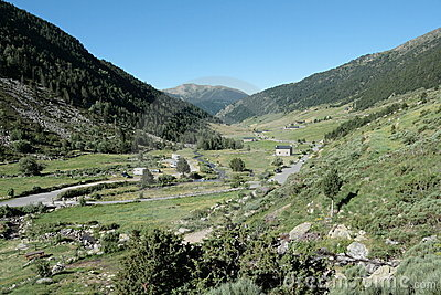 Incles valley in Pyrenees