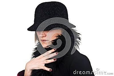 Incognito Woman In Black