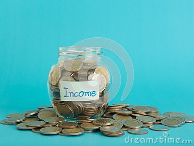 income money jar Stock Photo
