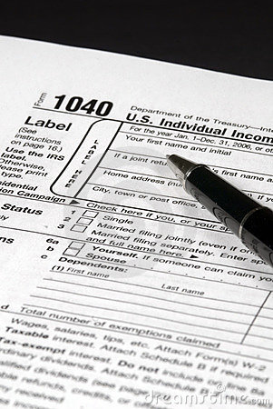 Income Tax Form Editorial Photo