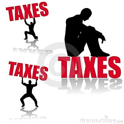 Income Tax Silhouettes