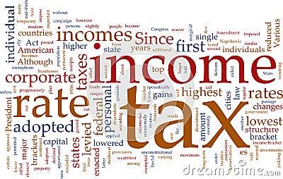 Income tax word cloud