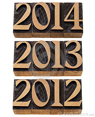Free Incoming Years 2012, 2013, 2014 Royalty Free Stock Image - 21996636