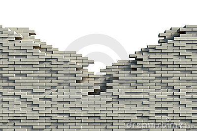 Incomplete brick wall Stock Photo