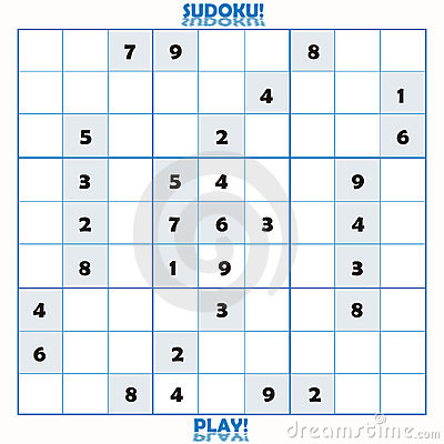 Free Incomplete Sudoku Puzzle Royalty Free Stock Image - 2816136
