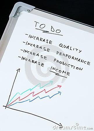Increase income concept