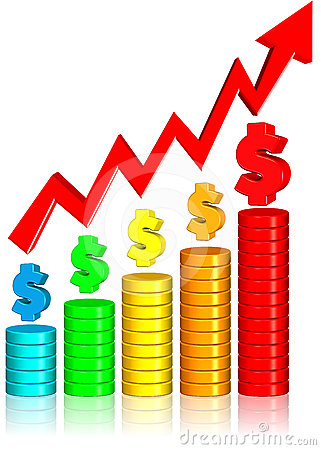 Increasing money chart three dimension style and high quality image