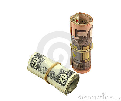 Increasing value of euro over dollar