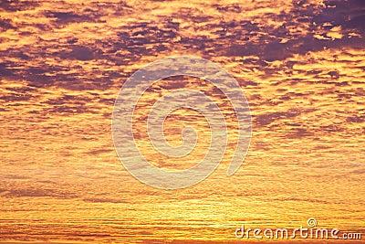 Incredible sunrise or sunset sky