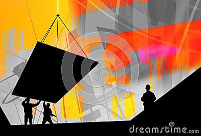 Indústria da construção civil, trabalho da equipe
