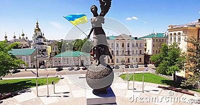 Independência de Ucrânia video estoque