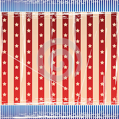 Independence Day Background with strips and stars