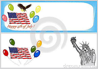 Independence Day backgrounds and banners