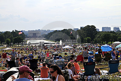 Independence Day on the Mall Editorial Image
