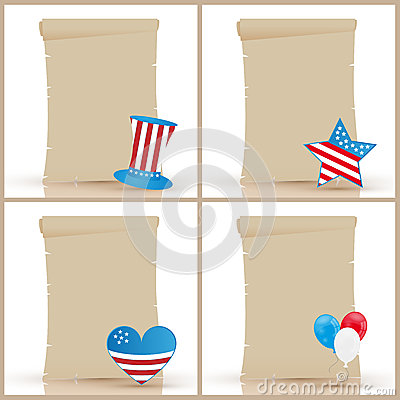 Independence day parchments