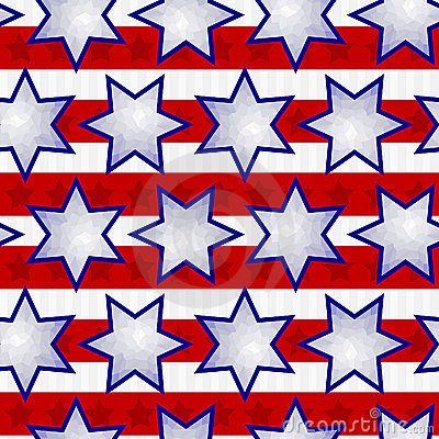 Independence Day Seamless Background Tile
