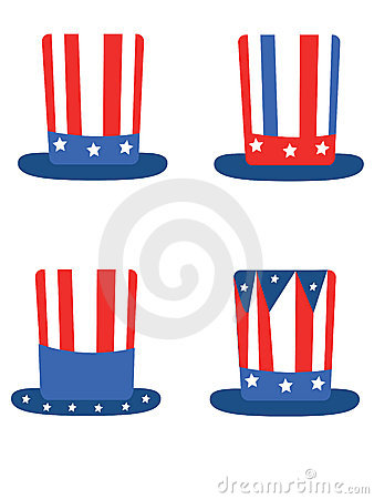 Independence day,set hats