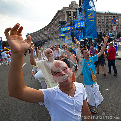 Independence Day of Ukraine in Kiev Editorial Photography