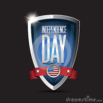 Independence day USA shield