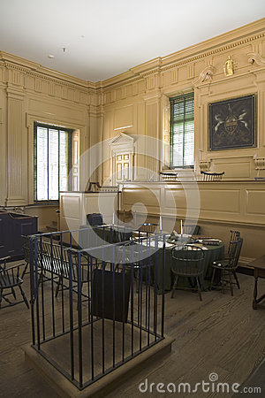 The Independence Hall courtroom Editorial Photography